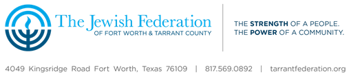 Logo for The Jewish Federation of Fort Worth & Tarrant County